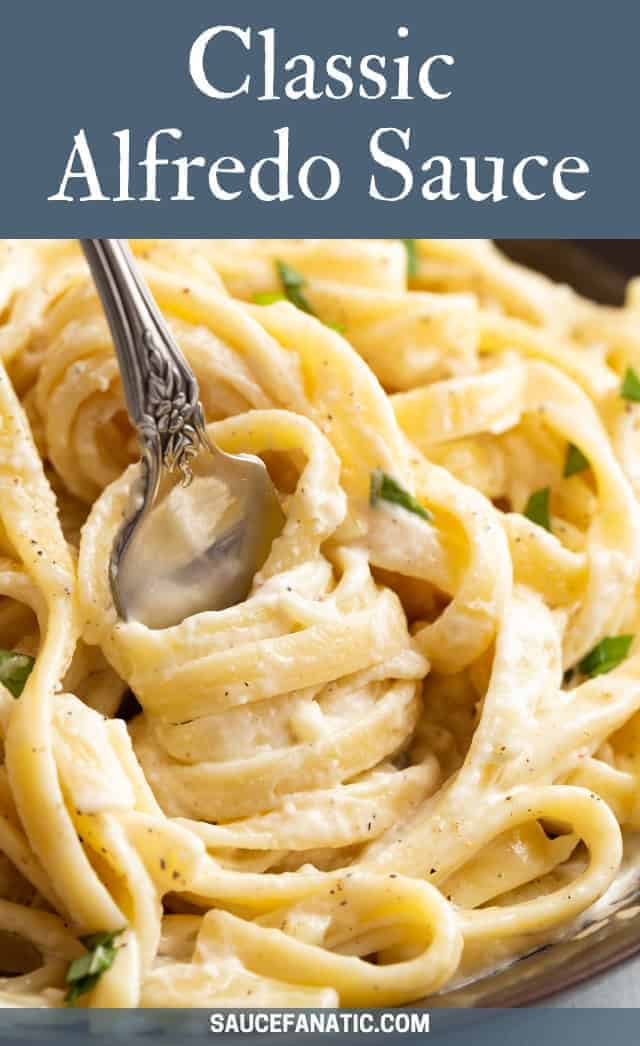 This classic alfredo sauce is rich, creamy, and simply the best. Whip it up to serve with fettucini or serve it as a dip for breadsticks.#saucefanatic #alfredosauce #alfredo #pasta #fettucini #recipe