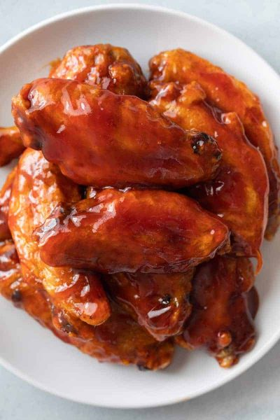 Copycat Mumbo Sauce recipe over wings