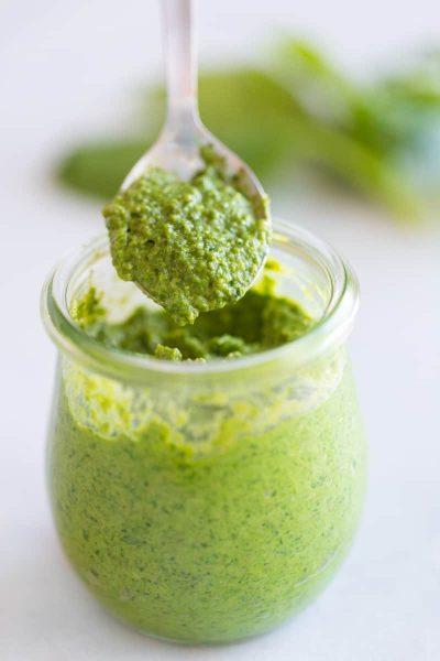 Creamy Basil Pesto Sauce