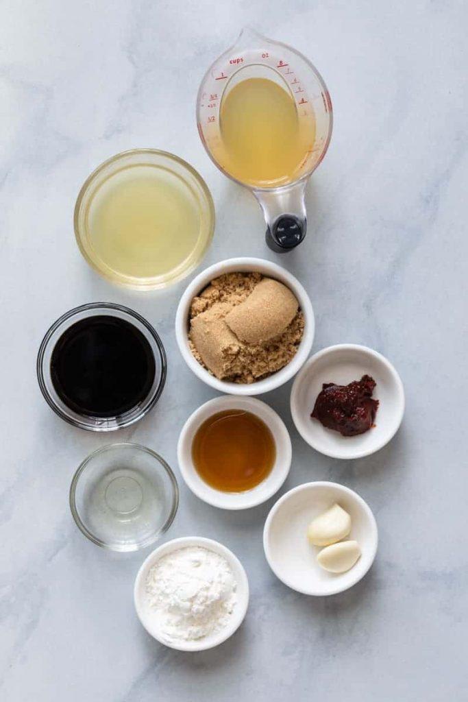 Sesame Chicken Sauce Recipe Ingredients