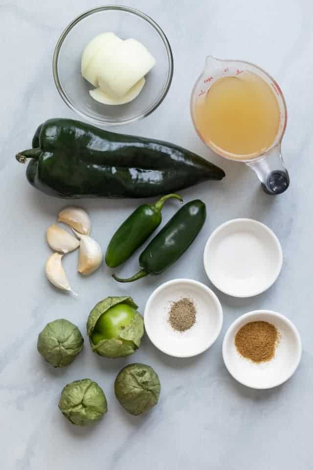 Green Enchilada Sauce recipe ingredients