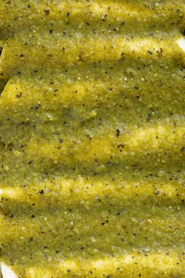 Green Enchilada Sauce closeup